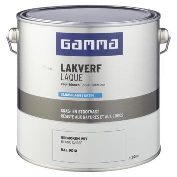 GAMMA binnenlak zijdeglans 2,5 L RAL 9010