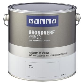 GAMMA binnenlak grondverf 2,5 L wit