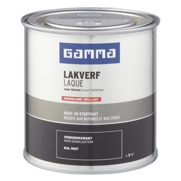 GAMMA binnenlak hoogglans 250 ml verkeerszwart
