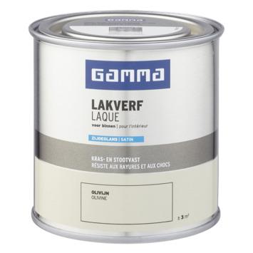 GAMMA binnenlak zijdeglans 250 ml olivijn