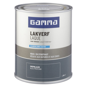 GAMMA binnenlak zijdeglans 750 ml diepblauw