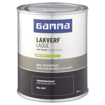 GAMMA binnenlak mat 750 ml verkeerszwart