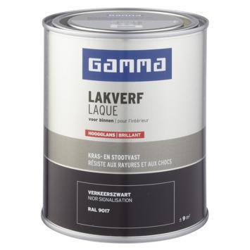 GAMMA binnenlak hoogglans 750 ml verkeerszwart