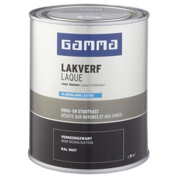 GAMMA binnenlak zijdeglans 750 ml verkeerszwart