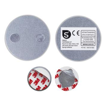Smartwares Magnetische Montageset RMAG3 voor Bevestiging Rookmelder Ø 50mm