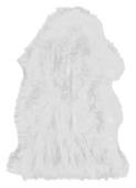 Schapenvacht Vloerkleed wit 40 mm 75x45 cm