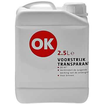 OK voorstrijk kleurloos 2,5 liter