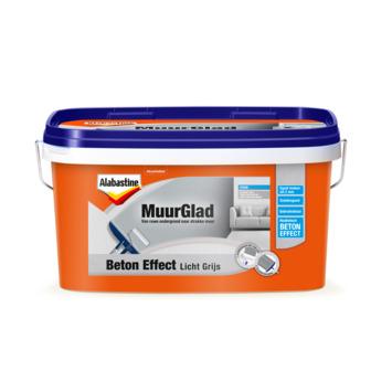 Alabastine MuurGlad beton effect licht grijs 5 liter