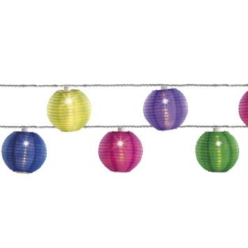 LED solar lampions gekleurd 10-pack