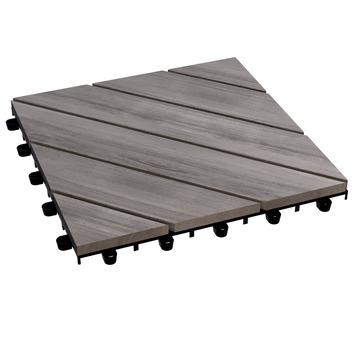 Balkontegel acacia grijs 30x30 cm per 6 stuks