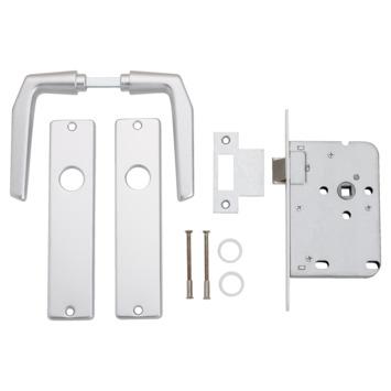 Insteekslot loopslot met aluminium slotplaat incl. kruk Doorn 50mm
