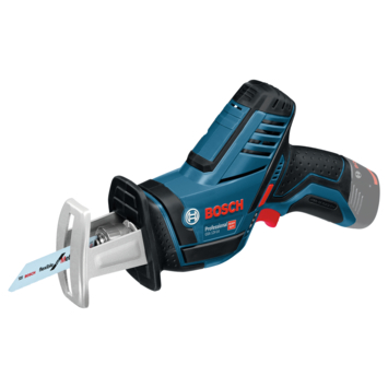 BOSCH BLAUW GSA 12V-14 Bare tool ACCU ZAAG, Zonder accu en lader
