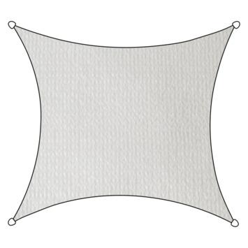 Livin' Outdoor Schaduwdoek Vierkant HDPE Wit 360x360 cm