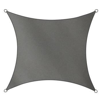 Livin' Outdoor Schaduwdoek Vierkant Poly Antraciet 500x500 cm