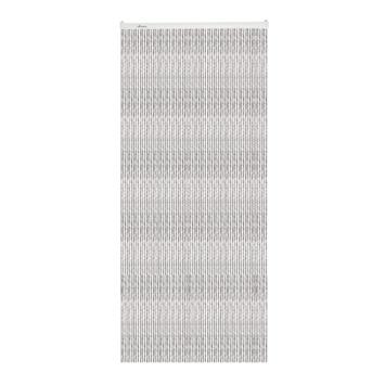 Livin' outdoor deurgordijn Cord alu rail zwart/grijs 230x100cm