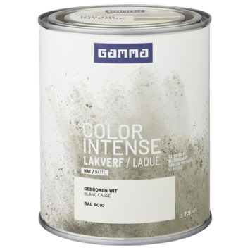 GAMMA color intense binnenlak mat 750 ml RAL 9010