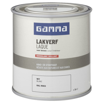 GAMMA binnenlak hoogglans 250 ml wit