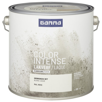 GAMMA color intense binnenlak zijdeglans 2,5 L RAL 9010