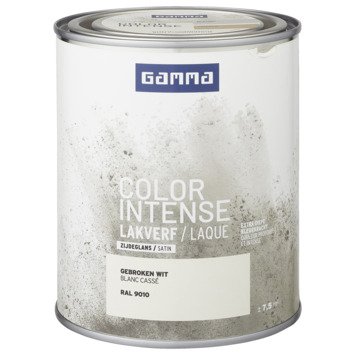 GAMMA color intense binnenlak zijdeglans 750 ml RAL 9010