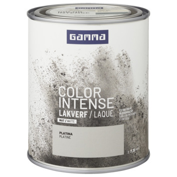 GAMMA color intense binnenlak mat 750 ml platina