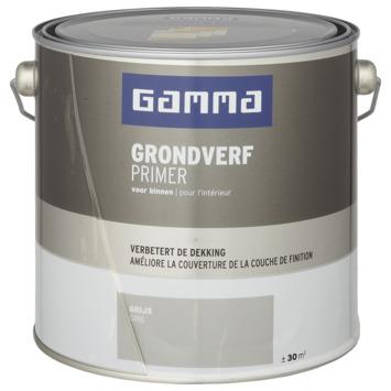 GAMMA binnenlak grondverf 2,5 L grijs