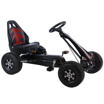 Volare Skelter Go Kart Big luchtbanden zwart grijs