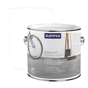 GAMMA betonverf zijdemat wit 2,5 liter
