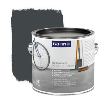 GAMMA betonverf zijdemat zwartgrijs 2,5 liter