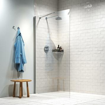 Get Wet inloopdouche Hooked 140x200cm hoogglans aluminium