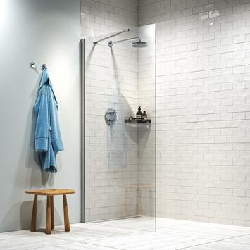 Get Wet inloopdouche Hooked 75x200cm hoogglans aluminium