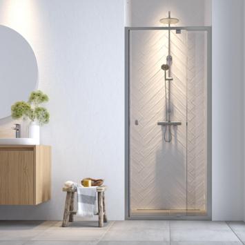 Get Wet douchedeur nis Hooked 100x200cm verstelbaar hoogglans aluminium