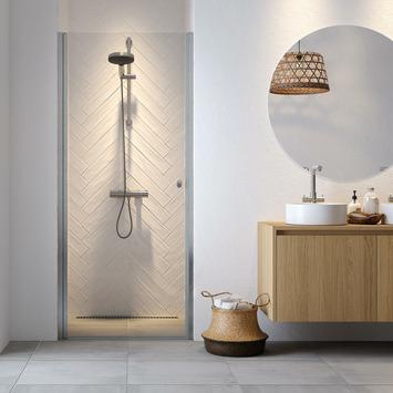 Get Wet douchedeur nis Hooked 90x200cm hoogglans aluminium