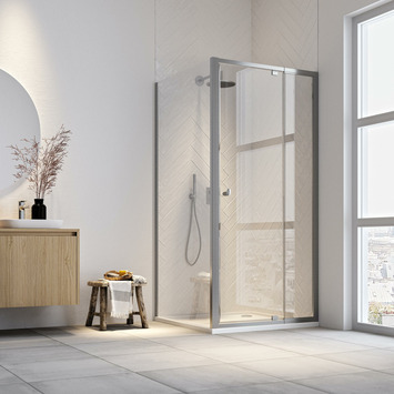 Get Wet draaideur en douchewand Hooked 90x90x200cm verstelbaar hoogglans aluminium