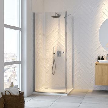 Get Wet draaideur en douchewand Hooked 90x90x200cm hoogglans aluminium