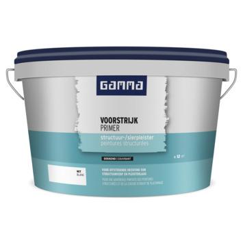 GAMMA voorstrijk structuur en sierpleister wit 2,5 liter