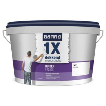 GAMMA muurverf 1x dekkend buiten wit 2,5 liter