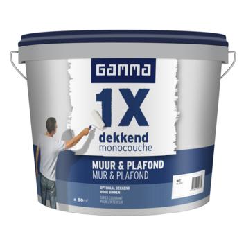 GAMMA latex 1x dekkend muur & plafond wit 5 liter