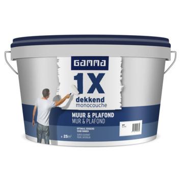 GAMMA latex 1x dekkend muur & plafond wit 2,5 liter