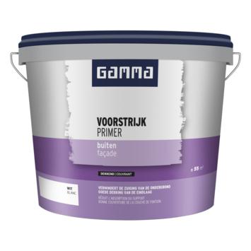 GAMMA voorstrijk dekkend buiten wit 5 liter