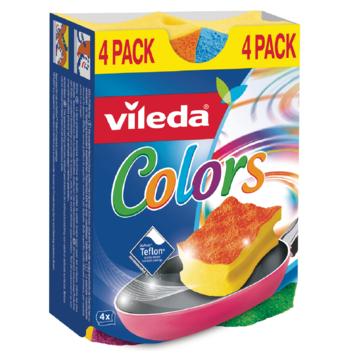 Vileda schuurspons color 4 stuks