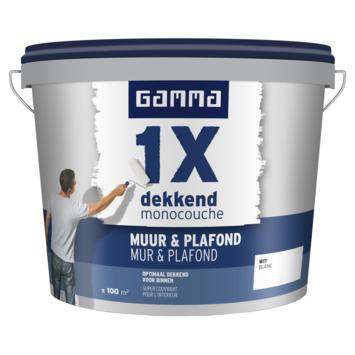GAMMA latex 1x dekkend muur & plafond wit 10 liter