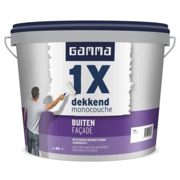 GAMMA muurverf 1x dekkend buiten wit 5 liter
