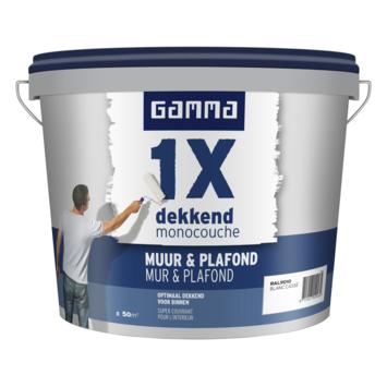 GAMMA latex 1x dekkend muur & plafond RAL 9010 gebroken wit 5 liter