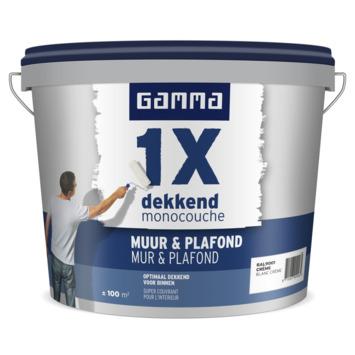 GAMMA latex 1x dekkend muur & plafond RAL 9001 crème wit 10 liter