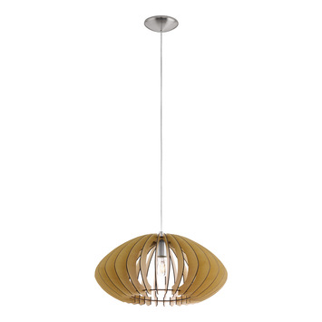 EGLO hanglamp Cossano Ø500mm bruin
