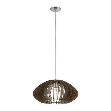 EGLO hanglamp Cossano Ø500 donker bruin