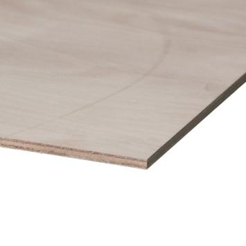 Multiplex garantplaat okoumé 10 mm 125x61 cm