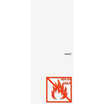 Boarddeur 30 minuten brandvertragend gelakt opdek rechts wit 83x201,5 cm