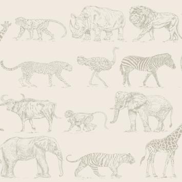 Vliesbehang Safari Creme (104894)