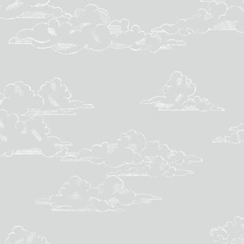 Vliesbehang Vintage wolk grijs (108555)